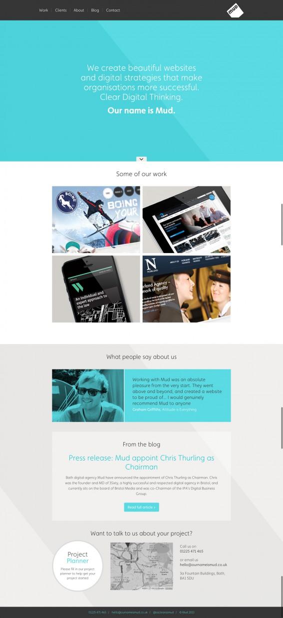 Mud, a creative web design agency.