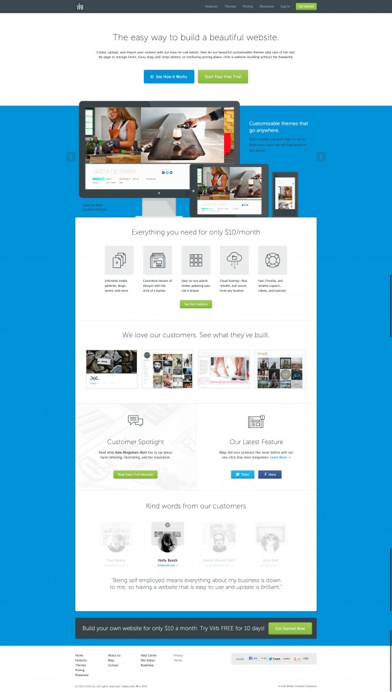 Virb › Build your own website